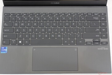 When compared to the UX434, the UX425 adds an extra column of keys along the right edge