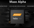 Maze Alpha processor details now official Helio P25