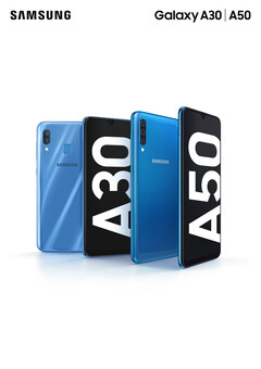 The Samsung Galaxy A30 and A50. (Source: Samsung)