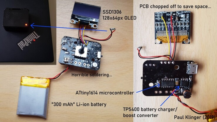 A breakdown of the components of the ThinkTiny micro-PC. (Source: Paul Klinger)
