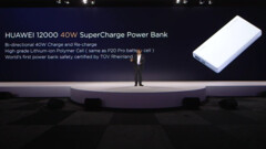 The Huawei SuperCharge 12000 is unveiled on stage. (Source: Huawei)
