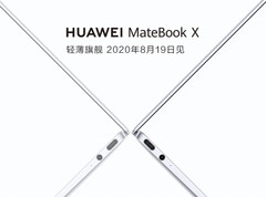 The new MateBook X will be unveiled on August 19 in China. (Image source: Huawei - edited)