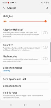 Display settings - Day mode