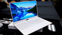 The upcoming Dell XPS 13 shown in pristine Alpine White. (Source: TechRadar)