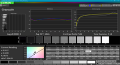 Grayscale before calibration
