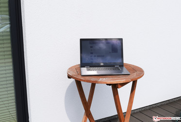 The Dell Inspiron 15 5579 in sunlight