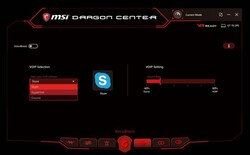 Voiceboost settings in MSI Dragon Center. (Image source: MSI)