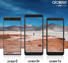 Alcatel 5, 3V, 1X Android handsets coming February 2018 (Source: Alcatel USA)