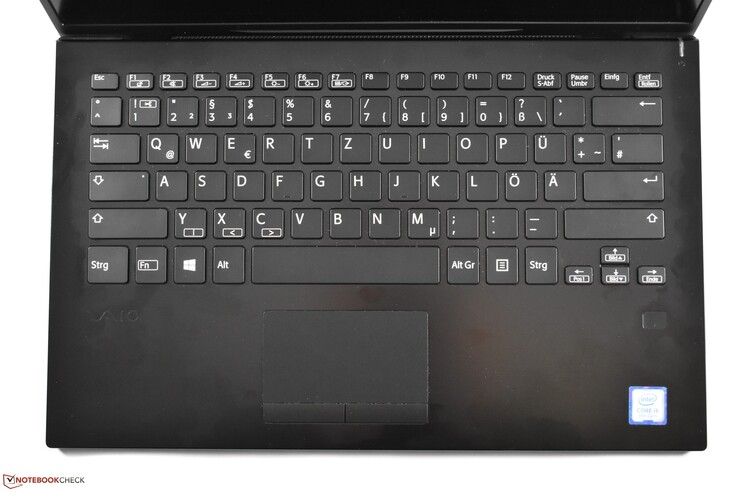 Keyboard area Vaio SX14