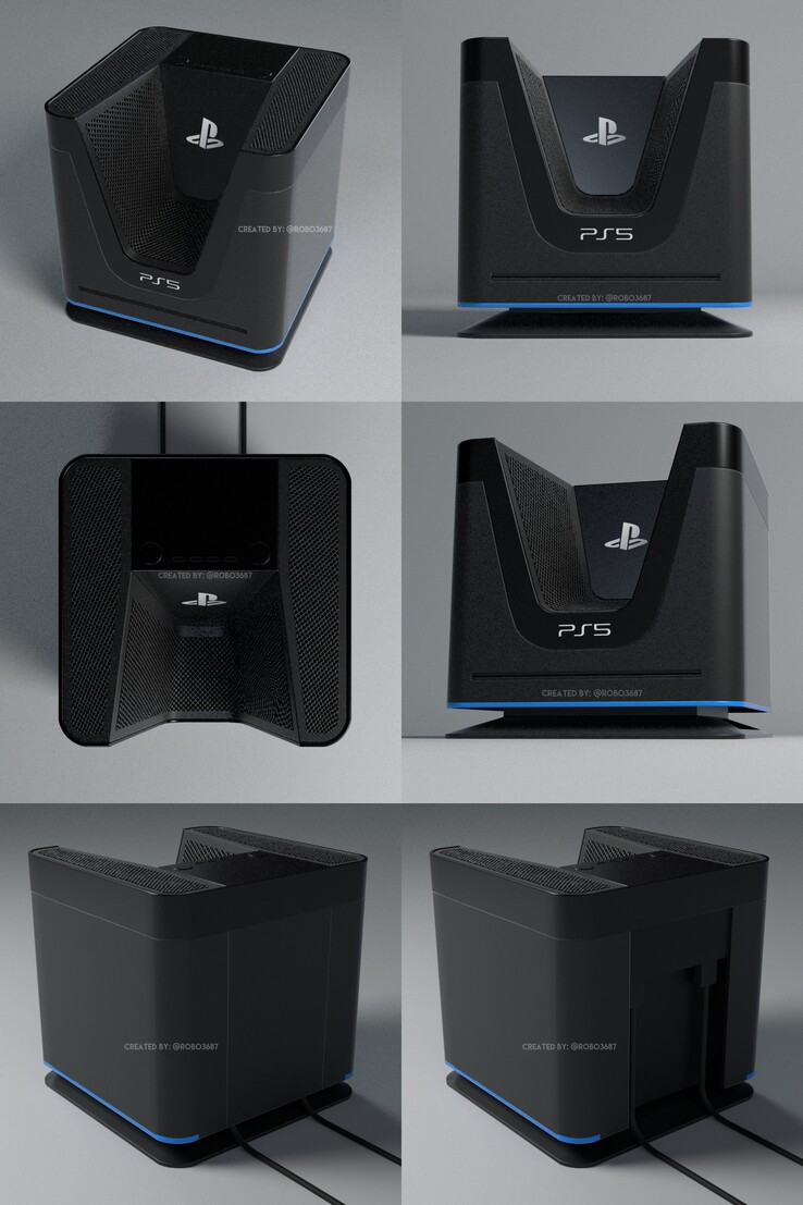 PlayStation 5 concept design. (Image source: @robo3687)