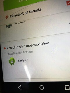 While xHelper can be removed by antivirus software, it will soon reinstall itself. (Image via Malwarebytes forum user Amelia)