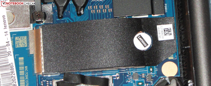 An NVMe SSD serves as system drive