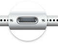 Lightning connector on iPhone 7 smartphone