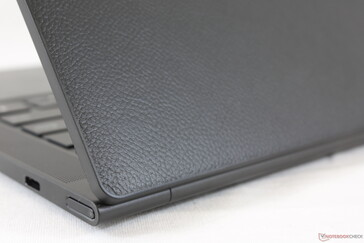 Genuine leather outer lid feels good and deters fingerprints. The Yoga 9i 2-in-1 features the same option