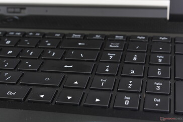 Full-size Arrow keys and NumPad unlike on most other laptops