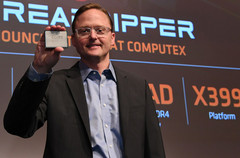 Jim Anderson was the face of many product launches for AMD, such as Threadripper 2. (Source: Tech Report)