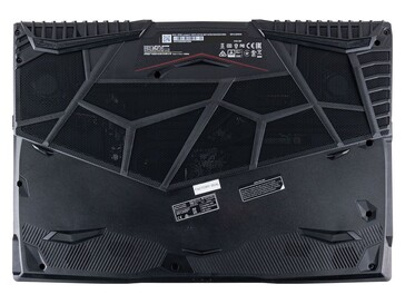 The bottom panel of the GP65 has more air intake holes than most other gaming laptops to make it the perfect test subject for a cooling pad (Image source: CUKUSA)