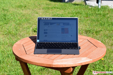 The Acer Switch 3 in the sun