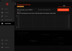 Built-in benchmark tool for overclocking.