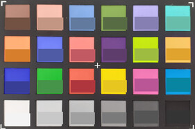 ColorChecker Passport: The lower half of each area of color displays the reference color