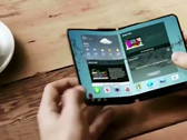 Samsung Galaxy X render from 2017, foldable handset introduced behind closed doors at CES 2018