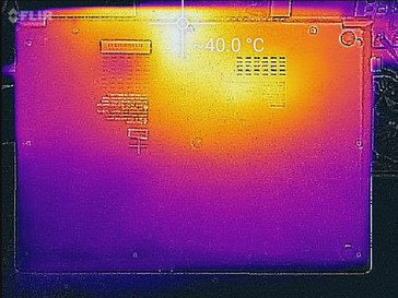 Heat map (underside)