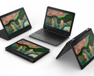 The 100e is the only model not to feature the 2-in-1 design among the three new Chromebooks. (Source: Lenovo)