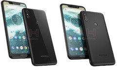 The Motorola One on the left, and the Motorola One Power on the right. (Source: Android Headlines)