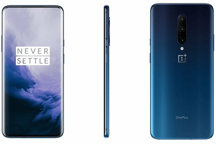 The OnePlus 7 Pro in Nebula Blue is water resistant but lacks official certification. (Source: Ishan Agarwal)