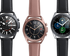 The Samsung Galaxy Watch 3 will come in 41 mm and 45 mm size variants. (Image source: @evleaks - edited)