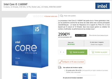 While the Intel Core i5-10600KF is 100 Euros (~$118) cheaper