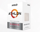 The AMD Athlon 3000G is now available and the unlocked multiplier makes it a strong budget contender. (Source: AMD)