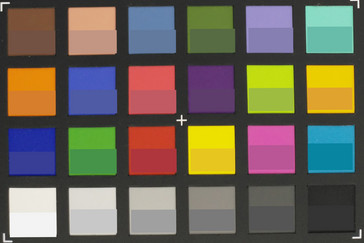 ColorChecker Passport: Target colors are displayed in the lower half of each patch (RGB sensor only).