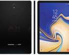 Samsung Galaxy Tab S4 render shows thin bezels (Source: Android Headlines)