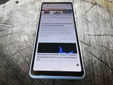 Sony Xperia 10 II in outdoor use