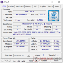 CPU-Z Intel Core i5-7267U