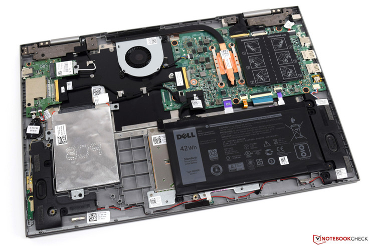 Dell Inspiron 15 5579 with bottom cover removed
