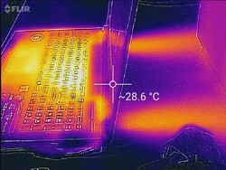 Thermal image of rear exhaust.