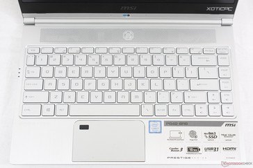 Large key size with a relatively small trackpad