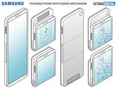Samsung's next foldable could be an updated clamshell smartphone. (Source: Letsgodigital)