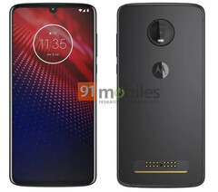 Renders of the Moto Z4. (Source: 91Mobiles)