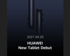 Huawei's latest tablet teaser. (Source: Twitter)