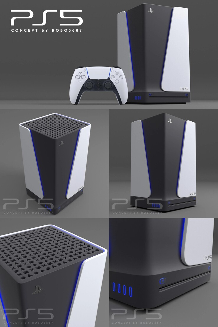 PlayStation 5 concept design. (Reddit - u/robo3687)