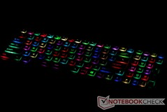 Per-key RGB lighting
