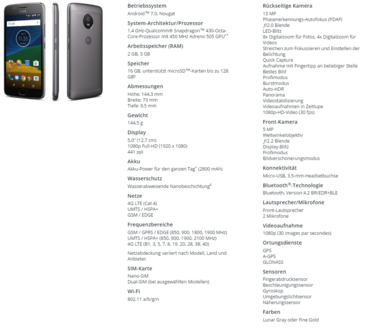 Moto G5 specifications