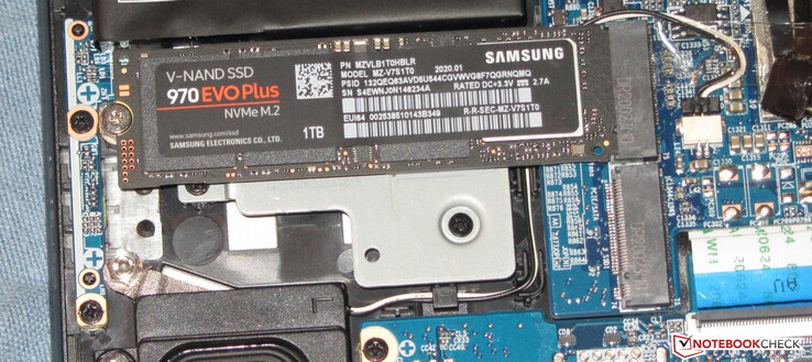 An NVMe SSD serves as system drive. A second SSD in the M.2 2280 format (NVMe or SATA) can be installed.