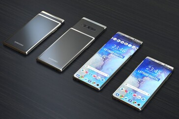 The sliding concept could debut with the Galaxy S11 and Galaxy S11 Plus. (Source: LetsGoDigital)