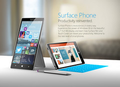 An arist's conceptual render of what a Surface smartphone might look like. (Source: Nasir Aslam)