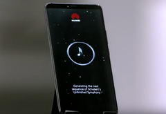 Huawei used the Mate 20 Pro to generate a melody for Schubert's Unfinished Symphony. (Source: YouTube/Huawei Mobile UK)