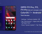 OPPO announces its new beta for the F11 series. (Source: Twitter)